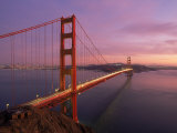 Golden Gate Bridge at Sunset, CA Reproduction photographique par Kyle Krause