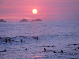 Beach at Sunset, Rio de Janeiro, Brazil Photographic Print by Jeff Dunn