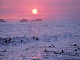 Beach at Sunset, Rio de Janeiro, Brazil Photographic Print by Jeff Dunn