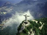 Christ Statue, Rio de Janeiro, Brazil Fotografiskt tryck av Bill Bachmann