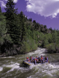People Rafting in Blue River North of Silverthorne, CO Photographic Print by Bob Winsett