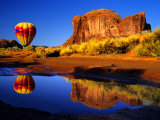 Arizona, Monument Valley, Hot Air Balloon Photographic Print by Russell Burden