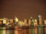 San Diego Skyline at Sunset, CA Photographic Print by Phyllis Picardi