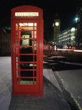 Telephone Booth, London, England Fotografisk tryk af Dan Gair