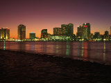 Skyline After Sunset, New Orleans, Louisiana Photographic Print by Kevin Leigh