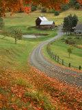 Sleepy Hollow Farm, Woodstock, VT Fotografisk tryk af Charles Benes