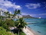 Waikiki Beach, HI Fotografie-Druck von Tomas del Amo