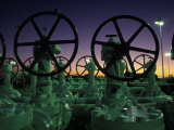 Natural Gas, Storage Tanks Photographic Print by Jon Riley