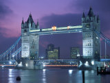 Tower Bridge at Night, London, UK Photographic Print by Peter Adams