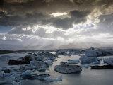 Jokulsarlon, Lagoon of Icebergs, SE Iceland Photographic Print by D. Robert Franz