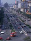 City Street, Xi'An, China Photographic Print by Hal Gage