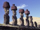 Ahu Tepito Kura, Anakena, Easter Island, Chile Fotodruck von Horst Von Irmer