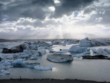 Jokulsarlon, Lagoon of Icebergs, SE Iceland Photographic Print by Jeffrey Rotman