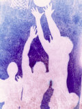 Silhouette of Basketball Game Photographic Print by Lonnie Duka