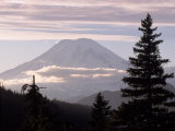Mt. Rainier with Clouds, Mt. Rainier National Park, WA, Photographic Print