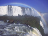 Rainbow Over Iguassu Falls, Brazil and Argentina Photographic Print by Michele Burgess