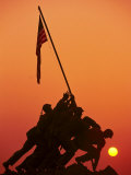 Iwo Jima Memorial, Washington DC Fotoprint van Matthew Borkoski