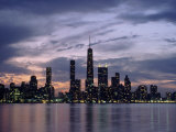 Chicago Skyline and Lake, IL Lámina fotográfica por Peter Schulz