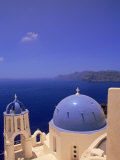 Greek Church, Santorini, Greece Photographic Print by Walter Bibikow