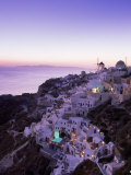 Santorin la nuit, Gr&#232;ce Photographie par Walter Bibikow