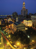 Aerial View, Fanueil Hall Marketplace, Boston, MA Photographic Print by Kindra Clineff
