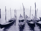 Row of Gondolas on the Water, Venice, Italy Photographic Print by Walter Bibikow