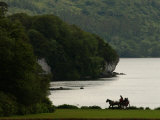 Ireland, Killarney, Horse and Cart by Lake Photographic Print by Keith Levit