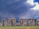 Stone Henge, W Essex, England Fotografisk tryk af David M. Dennis