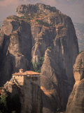 Roussanou Monastery, Meteora, Greece Photographic Print by Walter Bibikow