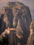 Roussanou Monastery, Meteora, Greece Photographic Print by Walter Bibikow