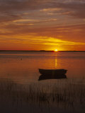 Boat & Cape Cod Sunset, MA Photographic Print by John Greim
