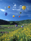 Hot Air Balloons Photographic Print by David Carriere