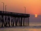 Fishing Pier, Virginia Beach, VA Photographic Print by Jeff Greenberg