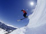 Man Skiing, Breckenridge, CO Fotografiskt tryck av Bob Winsett
