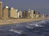 Oceanfront Hotels, Virginia Beach, VA Photographic Print by Jeff Greenberg