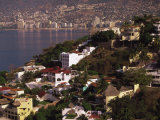 Cliffside Homes on Acapulco Bay, Mexico Photographic Print by Walter Bibikow