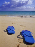 Sandals on Shore, HI Photographic Print by Tomas del Amo