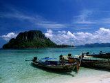 Thab Island, Krabi, Andaman Sea, Phuket Photographic Print by Angelo Cavalli