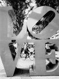 Love Sculpture, Shinjuku, Tokyo, Japan Photographic Print by Walter Bibikow