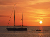 Masted Sailboat at Sunset, Cape Cod, MA Photographic Print by Gary D. Ercole