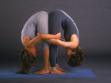 Women in Yoga Posture Together Photographic Print by Jim McGuire