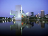 Rock and Roll Hall of Fame in Cleveland at Dusk Photographic Print by Mark Gibson