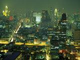 Central Bangkok Detail, Thailand Fotografisk tryk af Walter Bibikow