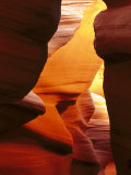 Antelope Canyon, Sandstone Rock Formations Near Page, USA Fotografisk tryk af Mark Hamblin