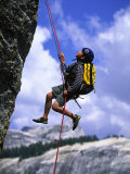 Boy Rock Climbing, California Photographic Print by Greg Epperson