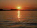 Sunset Over Lake Lanier, GA Fotografisk tryk af Mark Gibson