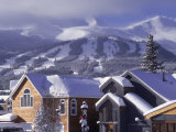 Town with Ski Area in Background, Breckenridge, CO Photographie par Bob Winsett