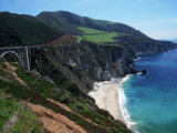 Bixby Bridge on Highway 1, Big Sur, CA Photographic Print by Michele Burgess