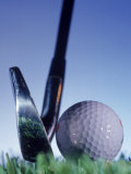 Golf Ball and Tee Fotografisk tryk af Matthew Borkoski