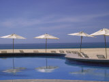 Pool and Umbrella, Cabo San Lucas, Mexico Photographic Print by Jennifer Broadus